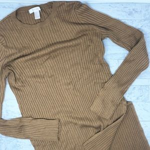 Forever 21 Split Side Crewneck Long Sleeve Sweater